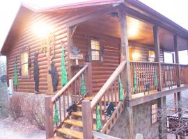 Private Cabin in Sevierville, Wraparound Deck, 2-King Beds, Work Desk, Wifi, Hot Tub & Dog-Friendly, cabin in Sevierville
