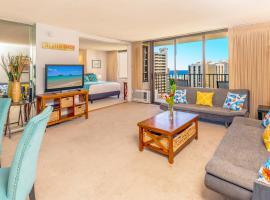 21st Floor with Panoramic Ocean Views | 1 Block to Beach | Free Parking & WIFI, apartment in Honolulu