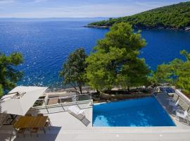 Luxury Seafront Villa My Dream with private pool, jacuzzi and staff at the beach on Brac island - Sumartin, beach hotel in Selca
