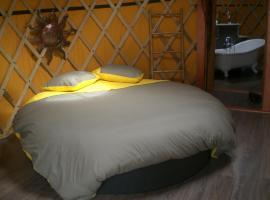 yourtes coccinelles, luxury tent in Conchez-de-Béarn