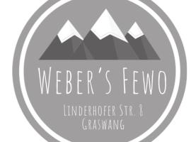 Weber´s Fewo, hotel in zona Castello di Linderhof, Graswang