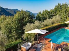 Granaiola Villa Sleeps 10 Pool WiFi, hotel in Bagni di Lucca