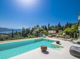 Lygia Villa Sleeps 10 with Pool Air Con and WiFi, hotel in Lygia