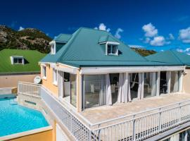 Villa with 2 bedrooms in Saint Barthelemy with wonderful sea view private pool terrace 500 m from the beach, hotel in Saint Barthelemy