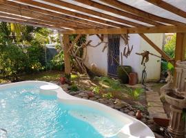 Appartement d'une chambre a Le lamentin avec piscine partagee jardin clos et WiFi a 9 km de la plage, Ferienwohnung in Le Lamentin
