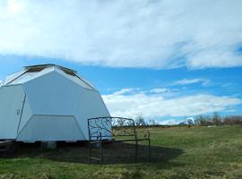 Sky sighting Iglúhús, luxury tent in Litli-Árskógssandur
