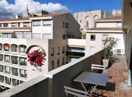 Bright flat w/ large balcony and garage at the heart of Avignon - Welkeys, apartment in Avignon