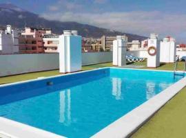 Studio in Puerto de la Cruz with wonderful sea view shared pool furnished balcony 250 m from the beach, hotel que admite mascotas en Puerto de la Cruz