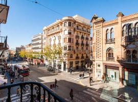 Apartment with 5 bedrooms in Sevilla with wonderful city view balcony and WiFi 87 km from the beach, pet-friendly hotel in Seville