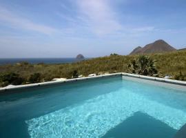 Villa Agapé : vue mer imprenable, piscine, sud caraïbe, hôtel au Diamant