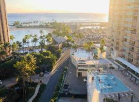 MERMAID'S COVE WITH BREATHTAKING OCEAN VIEWS AT ILIKAI HOTEL, serviced apartment in Honolulu