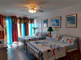 Ocean balmy warm healing breeze on sunny balcony, apartment in Daytona Beach