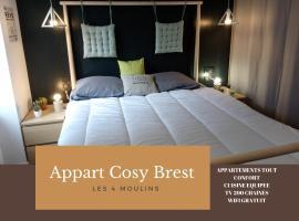 Appart Cosy Brest (Les 4 moulins), hôtel à Brest près de: Brest Arena