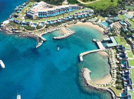 Elounda Peninsula All Suite Hotel, Six Senses Spa, golf hotel in Elounda