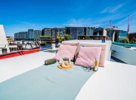 A304 Romantic SeaShip in top Center, boat in Amsterdam