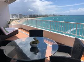 Spectacular Beach front PH, 2 Level-3bd-2.5 bath, apartment in San Juan