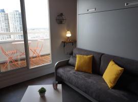 L'Horizon, studio tout confort, vue panoramique, hôtel à Rennes