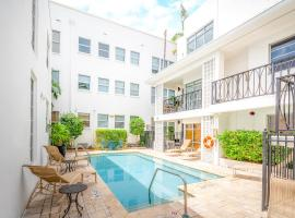 Fountain condo 2 story Pool BBQ Balcony, hotel em Miami Beach