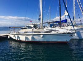 Porquerolles Island, boat in Porquerolles