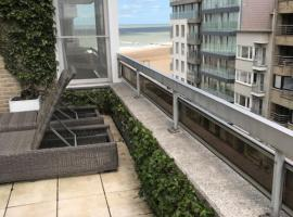 Residentie Zeebries, luxe en ruim appartement met zijzicht op zee, apartment in Knokke-Heist