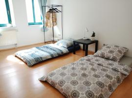 Twins room +free parking, Privatzimmer in Leipzig