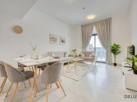 Two Bedroom Apartment in Binghatti Stars by Deluxe Holiday Homes, hotel with jacuzzis in Dubai