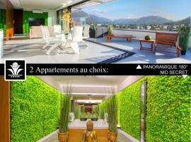Panoramique 180 lac et montagne et Nid Secret spa romantique, hôtel à Annecy