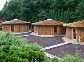 Glamp V Hluboké - Yurts and Wooden Houses