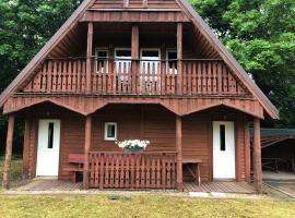 Drewniany domek w ogrodzie, cabin in Głowaczewo