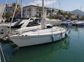 Romántico velero en Sitges, boat in Sitges