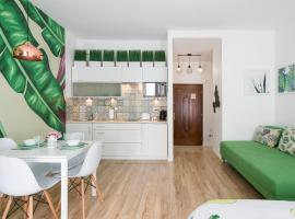 Cozy modern STUDIO GREEN APARTMENT in Old Town – apartament w Krakowie