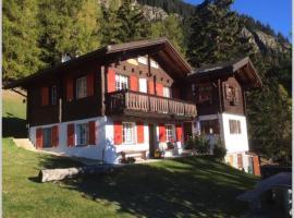 Idyllisches Chalet inmitten der Walliser Bergwelt、リーダーアルプのアパートメント