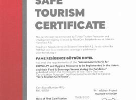 Fame Residence Goynuk, отель в Кеме