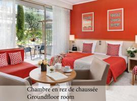 The Originals Boutique, Hôtel Les Strélitzias、ジュアン・レ・パンのホテル