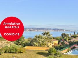 T2 magnifique vue mer et baie de Cannes, hotel in Théoule-sur-Mer