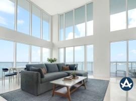 2-Story Waterfront Penthouse #13 (12th floor), villa in Miami Beach