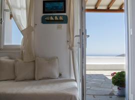 Balcony to the Aegean, hotel near Livada Beach, Stení