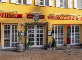Hotel Restaurant Goldener Hirsch, hotel in Donauwörth