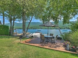Waterfront Home on Lake George with Boat Dock!, room in Queensbury