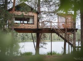 Treehouse Čiekurs, hotel near Eagle Cliffs, Duķuri