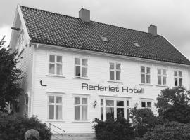 Rederiet Hotel, hotell i Farsund