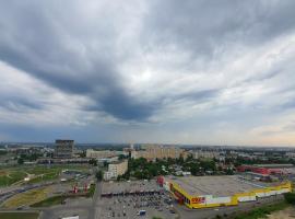 Апартаменты в ЖК Аквамарин на 25 этаже. Улица Окская 1, отель в Нижнем Новгороде