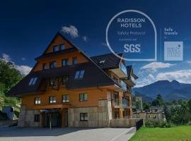 Radisson Blu Hotel & Residences, hotel with jacuzzis in Zakopane