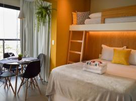 Studio moderno na Vl Olímpia-Ao lado da Faria Lima e Insper, hotel com acessibilidade em São Paulo