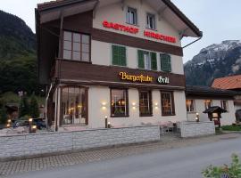 Hotel Restaurant Hirschen, hotel in Wilderswil