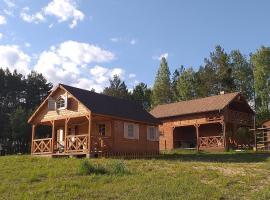 Osada nad żurawim stawem, hotel near Tuchola Forests, Krzywogoniec