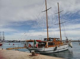 La barca numero uno a Trapani Sicilia Italy, boat in Trapani