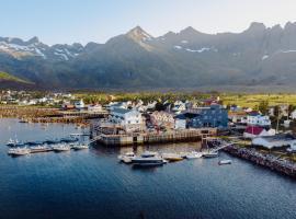 Mefjord Brygge, resort village in Mefjordvær