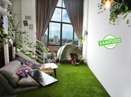 Private Forest Camp - Cinema, Hammock, Swing at CEO Penang, apartment in Bayan Lepas