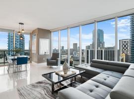 Luxury View Corner Unit 2/2 - Icon Brickell, apartment in Miami